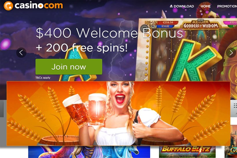 Enter the Bonus Barrel at Casino.com
